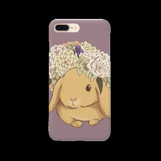 Lichtmuhleの花冠と垂れ耳うさぎ Smartphone cases
