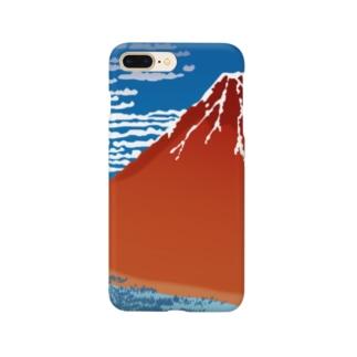 富嶽三十六景 凱風快晴 Smartphone cases