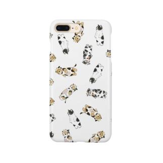 牛にゃん Smartphone cases