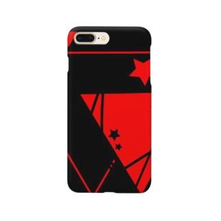 黒×赤の△☆ スマートフォンケース
