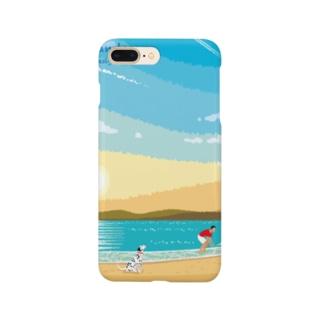 湘南ランドスケープ02:ひこうき雲 Smartphone cases