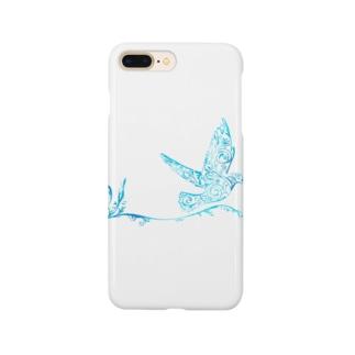 青い翼 Smartphone cases