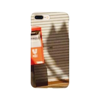 風景 ネコ ポスト  Smartphone cases