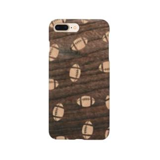 【ラグビーボール】寄木風スマホケース3017 Smartphone cases