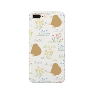 お花畑とキーウィ Smartphone cases