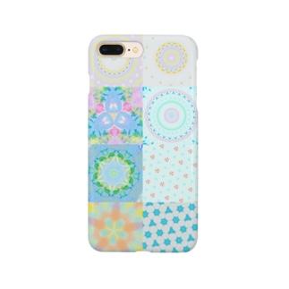 曼荼羅パッチワーク Smartphone cases