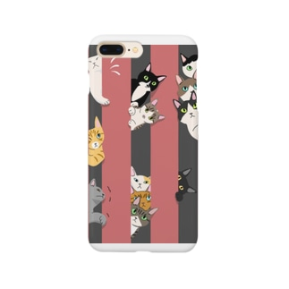 Atelier Heureuxの隙間が気になるにゃんこ達 くろとあか Smartphone cases