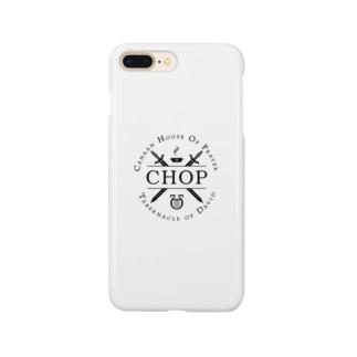Masahiro FukuiのCHOP ブラックロゴ Smartphone cases
