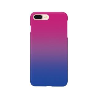 グラデーション プライドフラッグ バイセクシュアル Smartphone cases