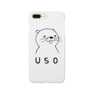 ほほえみUSOスマートフォンケース Smartphone cases