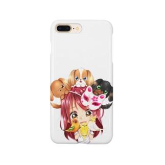 ハッピーアニマル(初期限定デザイン キャバリア・インコ・犬・鳥) Smartphone Case