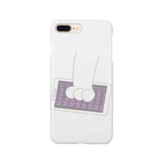 ねこの手とスマホ Smartphone cases