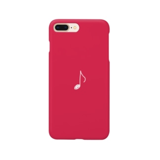 白い八分音符 Smartphone cases
