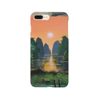 夕焼けの桂林 Smartphone cases