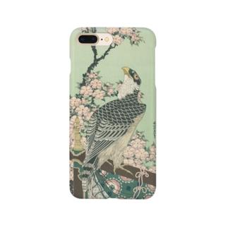 葛飾 北斎 《桜花・鷹》 Smartphone cases