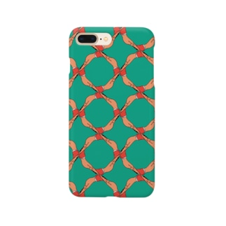 ちょっとちょっと【ノーマル】 グリーン Smartphone cases