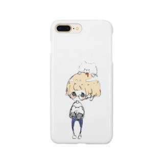 メガネくんと熊吉 Smartphone cases