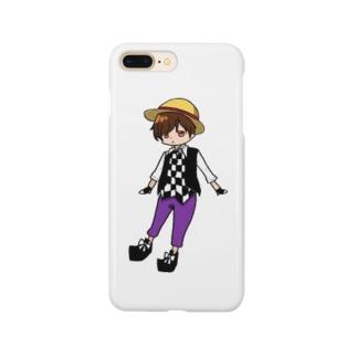 麦わらのよう(にこいち)のiPhoneケース Smartphone cases