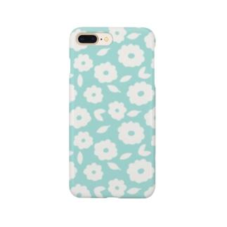 やさしくふんわか北欧のお花。 SKY/単 Smartphone cases