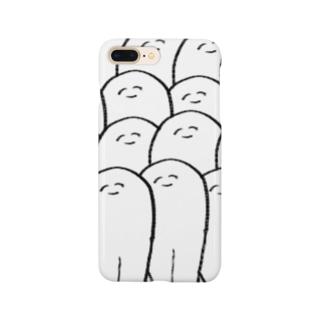 白顔の大群。 Smartphone cases