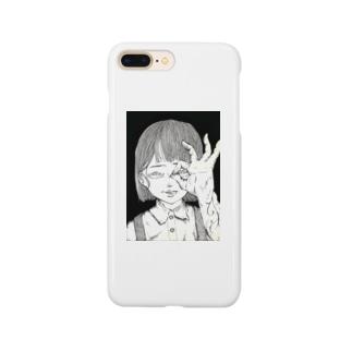 ペン画のぞきちゃん Smartphone cases