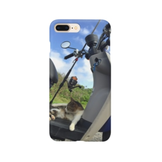 原チャリ釣りにゃんこ Smartphone cases