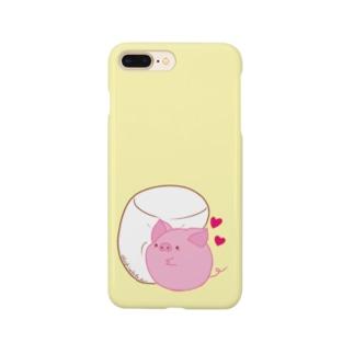 ぶたくんとマシュマロ Smartphone cases