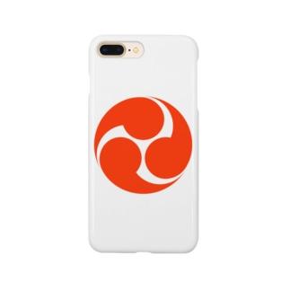 赤三つ巴 Smartphone cases