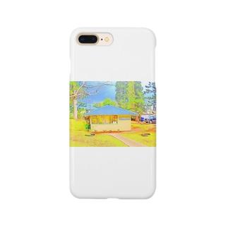 ラナイ島にある小さく可愛いBank of Hawaii(イラスト) Smartphone cases