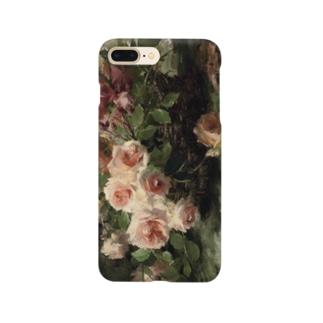 フランス・モルテルマン《バスケットのピンクの薔薇》 Smartphone Case