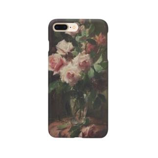 フランス・モルテルマン《ピンクのバラのブーケ》 Smartphone Case