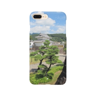 FUCHSGOLDの日本の城:甲府城稲荷櫓の風景写真 Japanese castle: Inariyagura of Kofu castle Smartphone cases