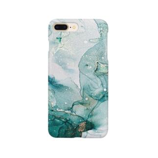 アルコールインクアート spring green Smartphone cases