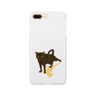 【黒猫ストレッチ】 Smartphone cases