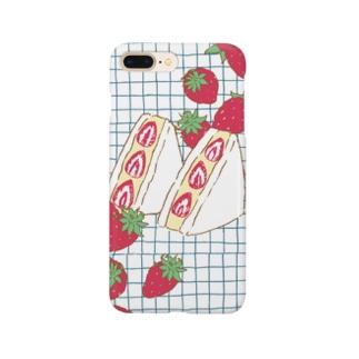 フルーツサンド いちご Smartphone cases