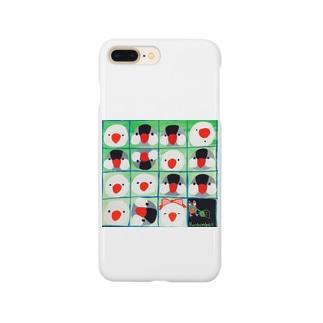 文鳥一家のオセロ遊び Smartphone cases
