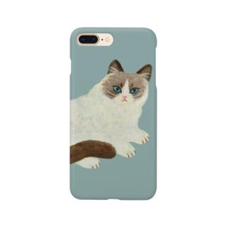 ふわふわのねこ Smartphone cases