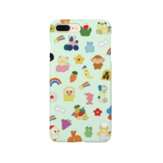 おしゃれフォン(ライトグリーン) Smartphone cases