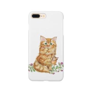 すももとミニバラ Smartphone cases