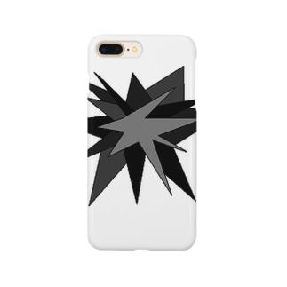 モノトーン(破裂・大) Smartphone cases