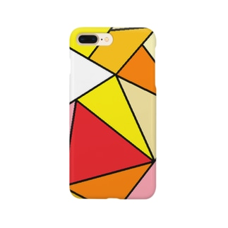 三角の共演(暖色) Smartphone cases