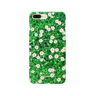 小さなマーガレット白 Smartphone cases