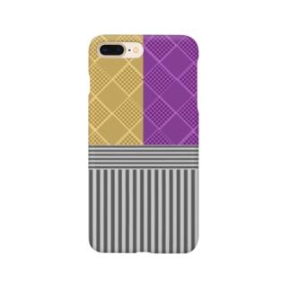 和柄(お芋カラー) Smartphone cases