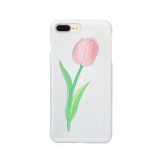 ピンクのチューリップ Smartphone cases