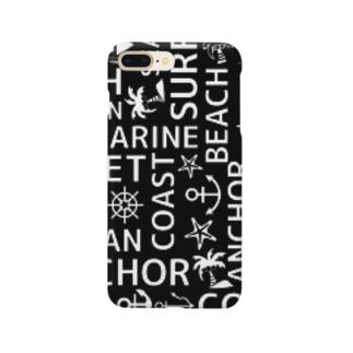モノクロマリン(黒) スマートフォンケース