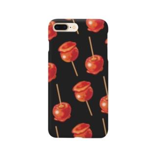 林檎飴[黒] Smartphone cases