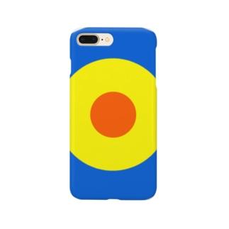 サークルa・青・黄・オレンジ Smartphone cases