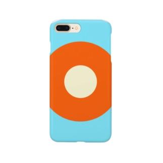 サークルa・水色3・オレンジ・クリーム Smartphone cases