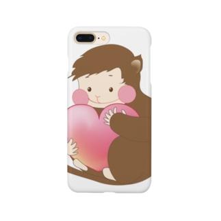 おさる LOVE Smartphone cases