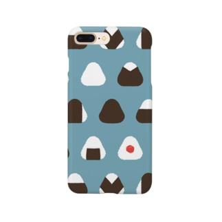 三角おにぎり  のりとうめぼし Smartphone cases